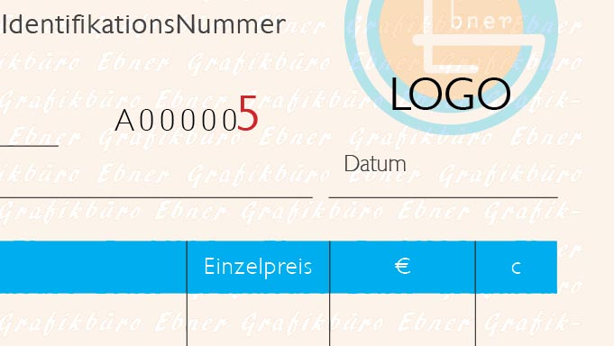 Individueller Rechnungsblock Grafikbüro Ebner