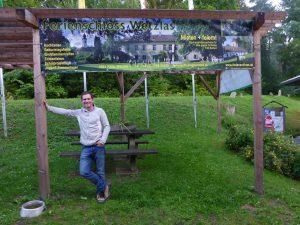 Werbebanner beim Stausee Ottenstein