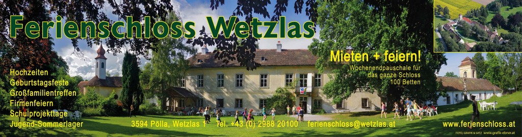 Schloss Wetzlas - Werbebanner